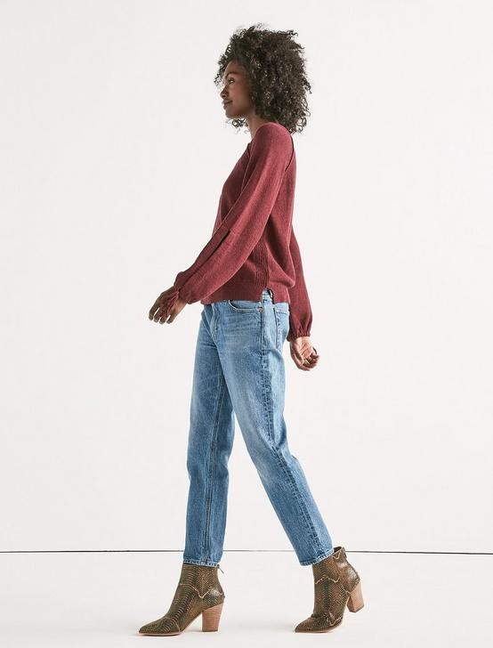 TIE SLEEVE PULLOVER, RED PEAR, productTileDesktop