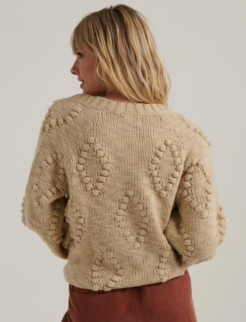 BOBBLE CARDIGAN, 104 CREAM