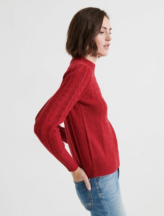 DORSET POINTELLE MOCKNECK, 636 RED, productTileDesktop