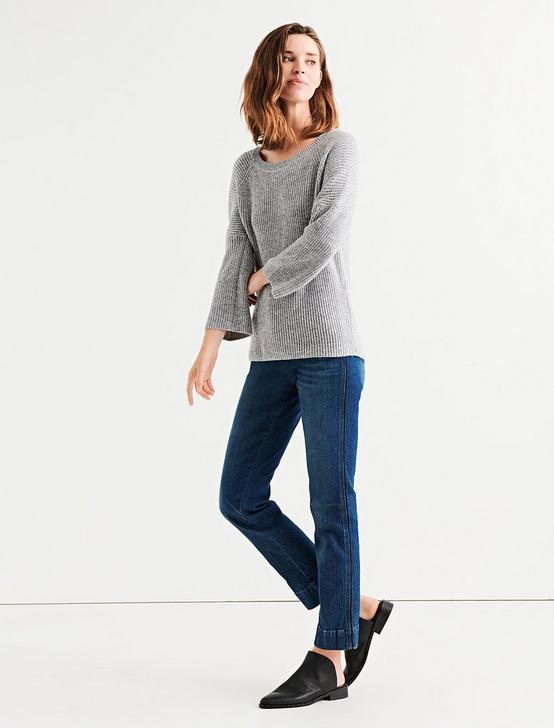 BELL SLEEVE PULLOVER, HEATHER GREY, productTileDesktop