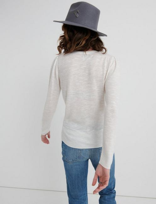 MIXED STITCH PULLOVER, ANTIQUE WHITE