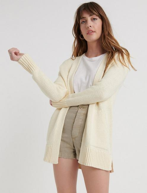Boyfriend Cardigan, SNOW WHITE