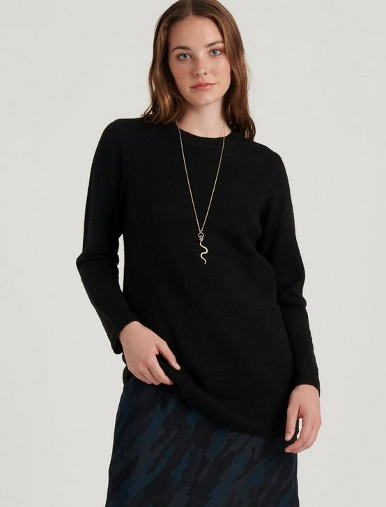 BILLIE BOYFRIEND SWEATER, 001 LUCKY BLACK, productTileDesktop