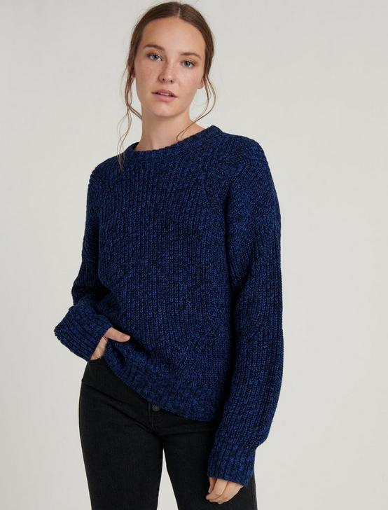 MARL CREW NECK PULLOVER, NAVY MULTI, productTileDesktop