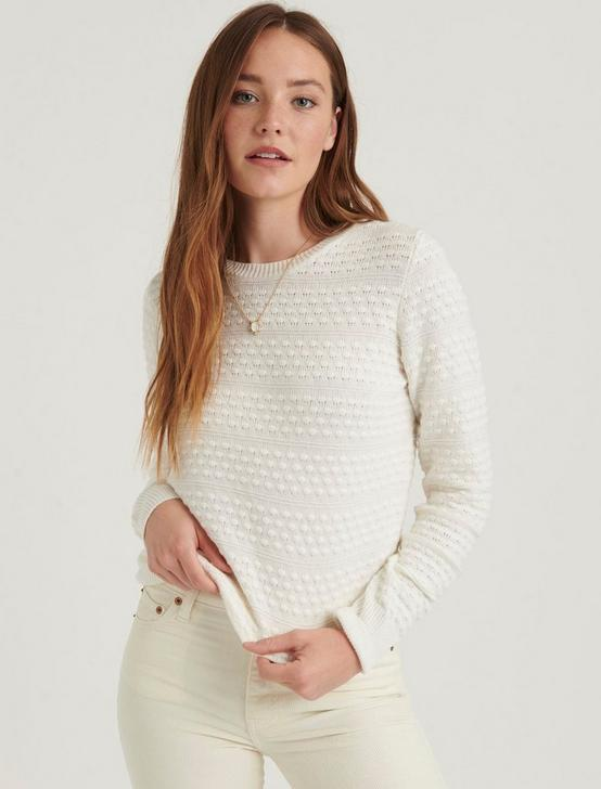 ANDREA TUCK SWEATER, CREAM, productTileDesktop