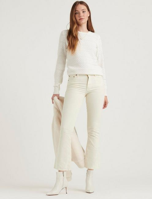 ANDREA TUCK SWEATER, CREAM