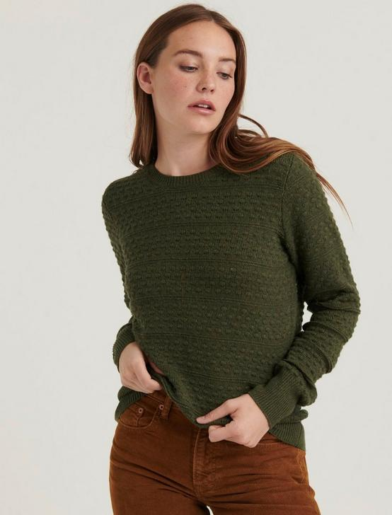 ANDREA TUCK SWEATER, OLIVE, productTileDesktop