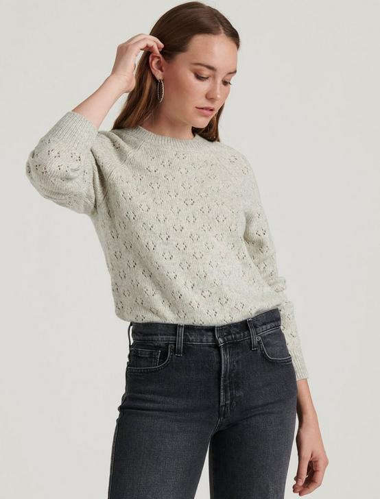 EMILY POINTELLE PULLOVER, HEATHER GREY, productTileDesktop