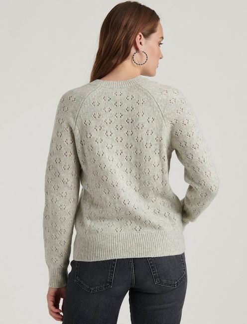 EMILY POINTELLE PULLOVER, HEATHER GREY