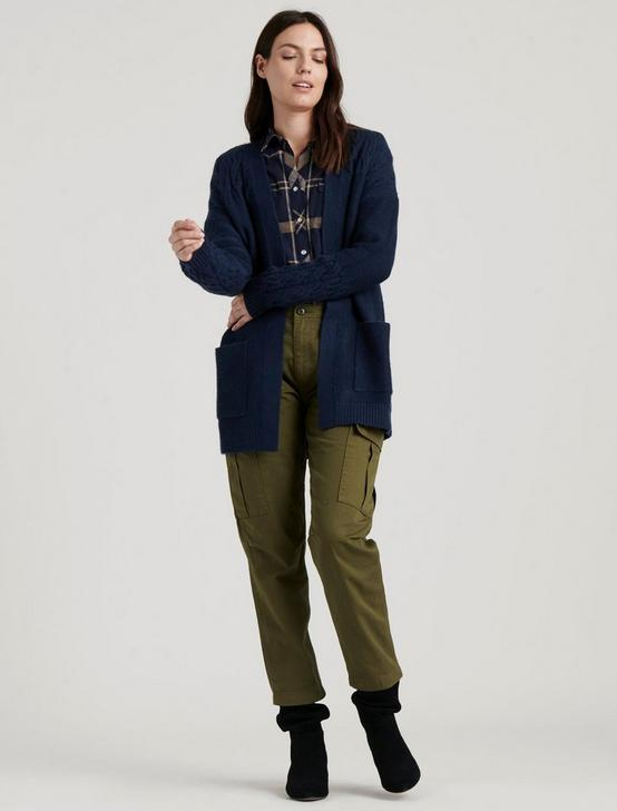 VENICE CABLE CARDIGAN, AMERICAN NAVY, productTileDesktop