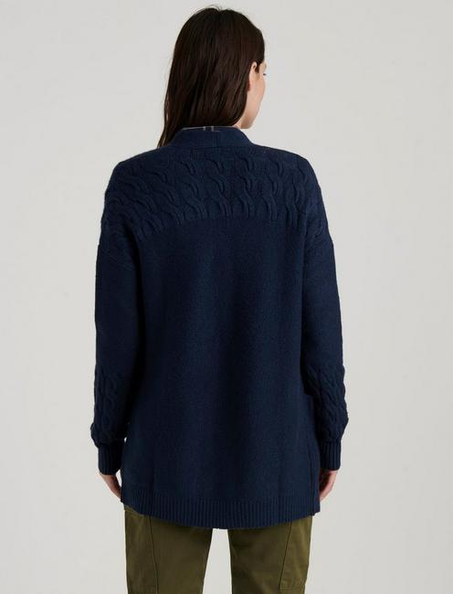VENICE CABLE CARDIGAN, AMERICAN NAVY