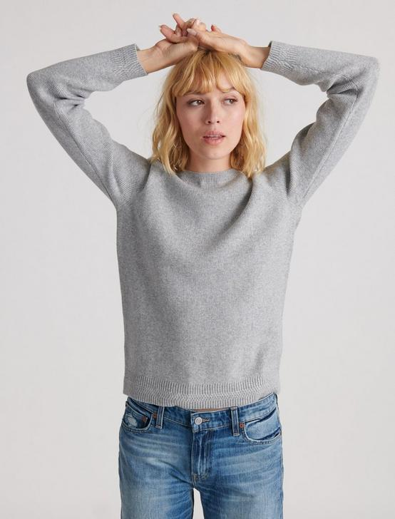 ALEX RIB CREW SWEATER, HEATHER GREY, productTileDesktop