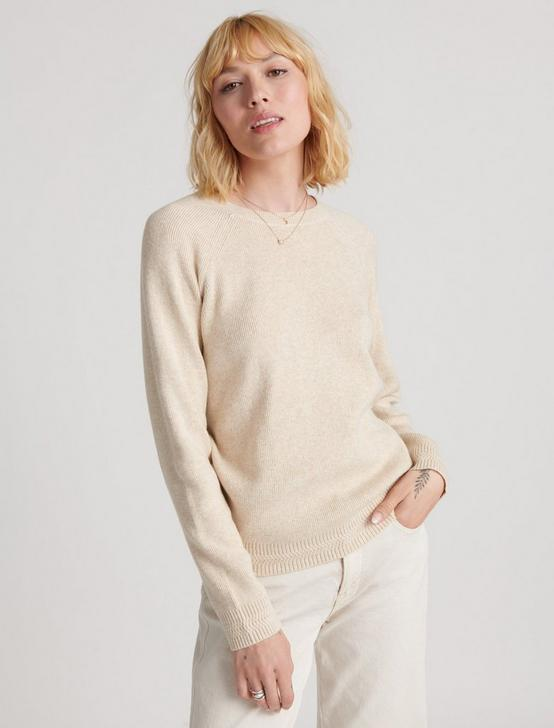 ALEX RIB CREW SWEATER, OATMEAL HEATHER, productTileDesktop