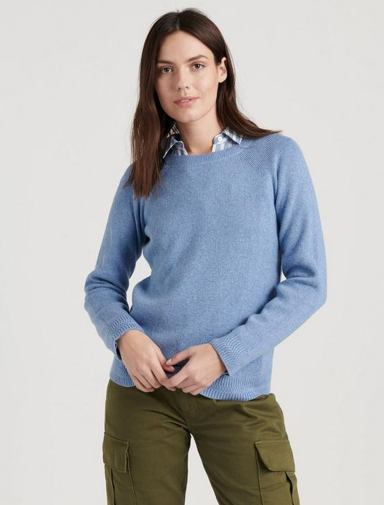 ALEX RIB CREW SWEATER, #40100 COLONY BLUE, productTileDesktop