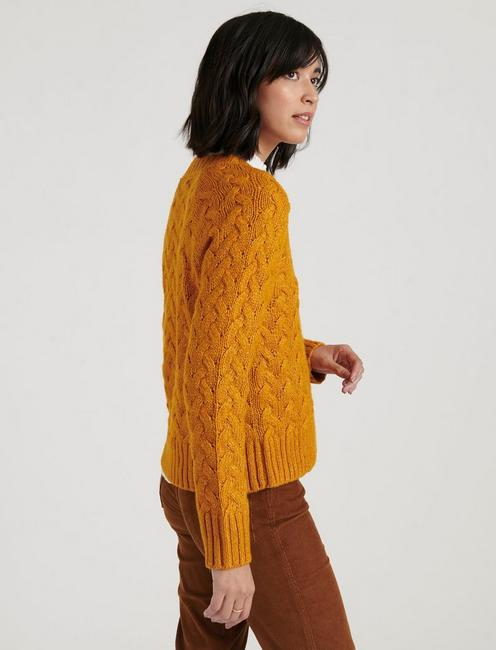 QUINN CABLE PULLOVER, SUDAN BROWN