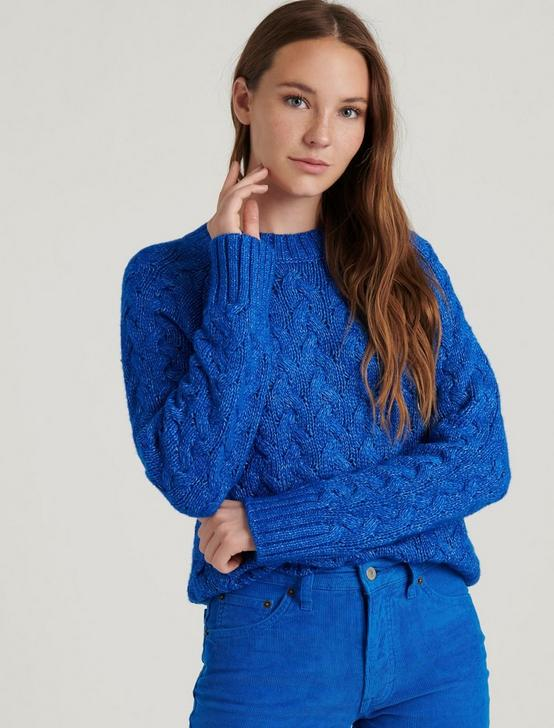 QUINN CABLE PULLOVER, PRINCESS BLUE, productTileDesktop