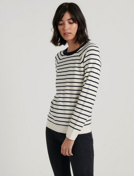 ALEX RIB CREW SWEATER, NAVY MULTI, productTileDesktop
