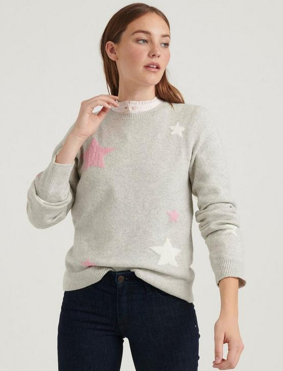 STAR INTARSIA PULLOVER, GREY MULTI, productTileDesktop