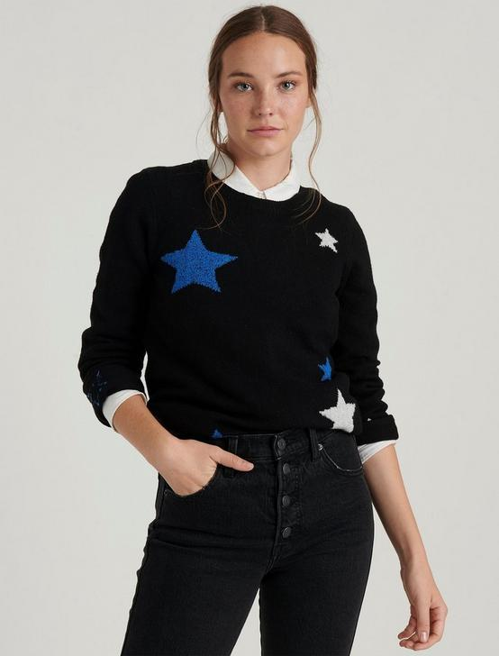 STAR INTARSIA PULLOVER, BLACK MULTI, productTileDesktop