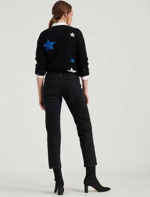 STAR INTARSIA PULLOVER, BLACK MULTI
