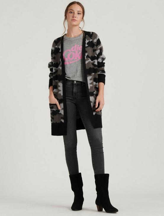 CAMO CARDIGAN, GREY MULTI, productTileDesktop