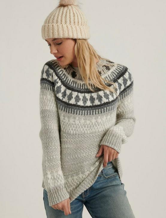 BOLD FAIRISLE SWEATER, GREY MULTI, productTileDesktop
