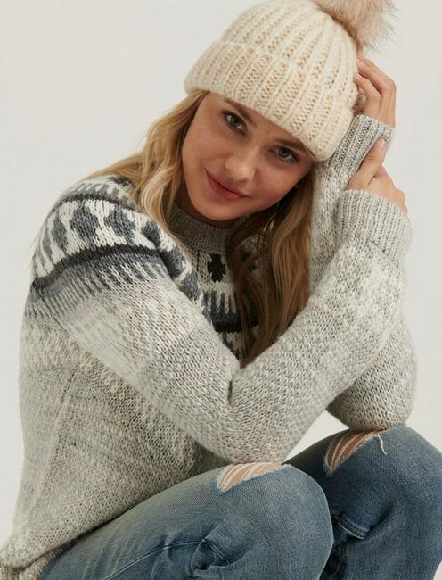 BOLD FAIRISLE SWEATER, GREY MULTI