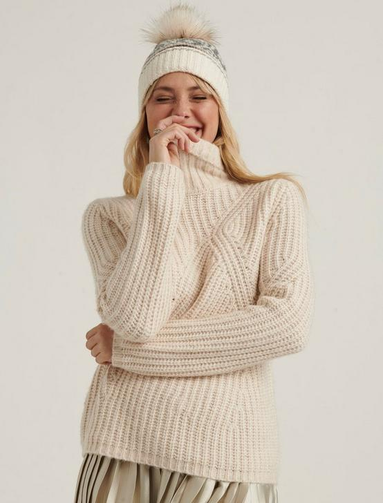 TRAVELING RIB SWEATER, OATMEAL HEATHER, productTileDesktop