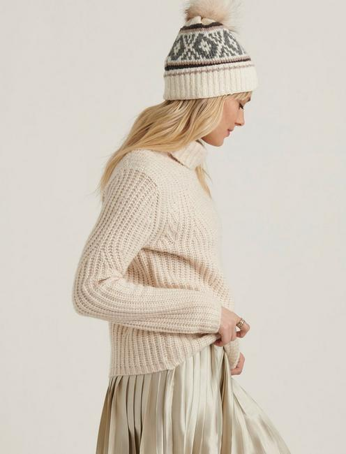 TRAVELING RIB SWEATER, OATMEAL HEATHER