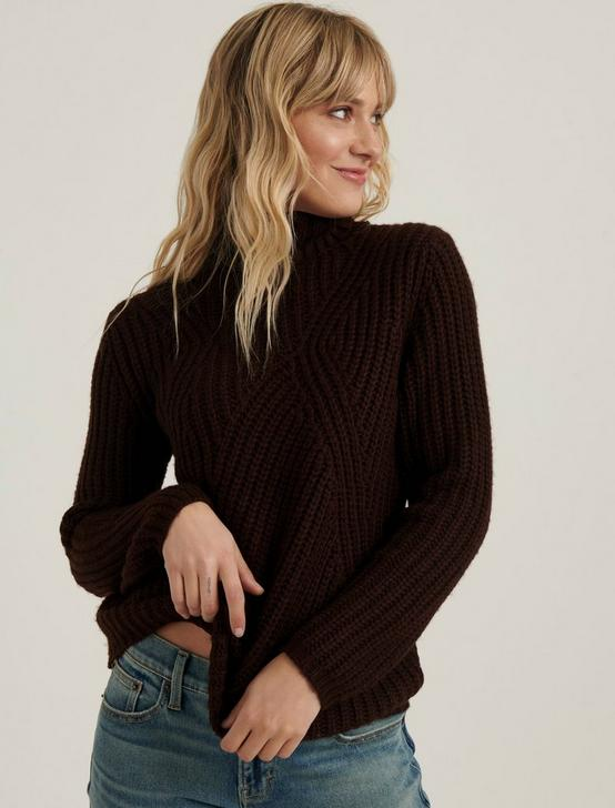 TRAVELING RIB SWEATER, RICH CHESTNUT, productTileDesktop