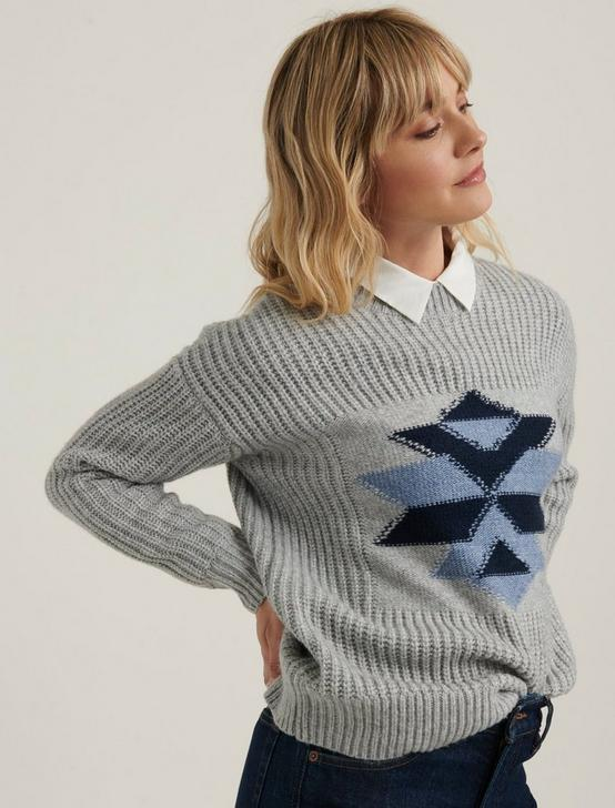 INTARSIA WINTER SWEATER, GREY MULTI, productTileDesktop