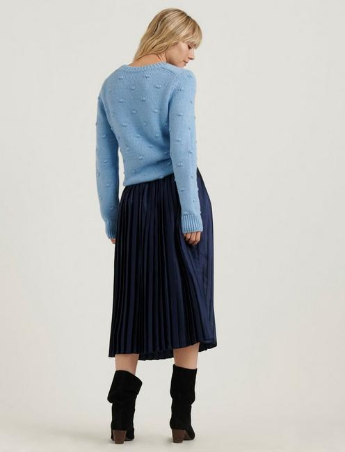 BOBBLE CREW NECK SWEATER, POWDER BLUE