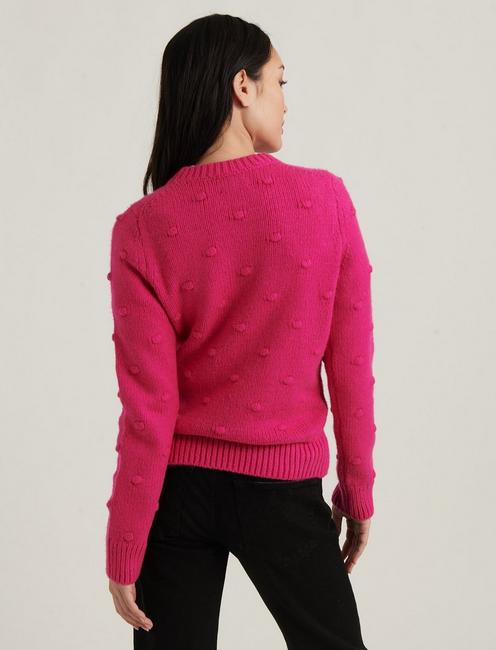 BOBBLE CREW NECK SWEATER, JULIET PINK