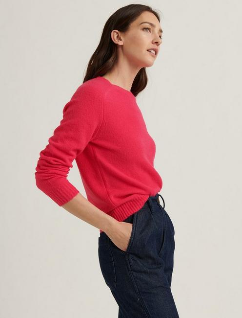 MAYA SOLID CLASSIC PULLOVER, BOLDEST PINK