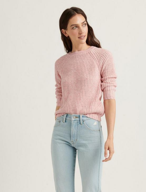 ELLIE DONEGAL PULLOVER, PINK MULTI, productTileDesktop