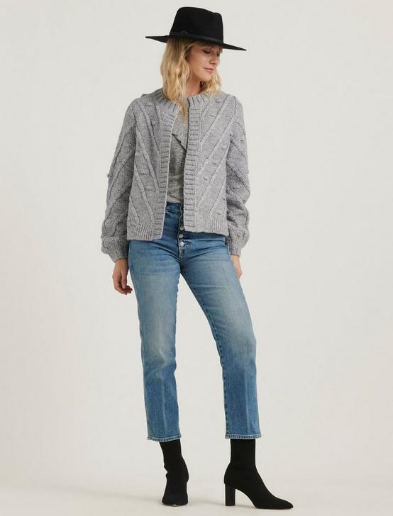 BOBBLE CARDIGAN, HEATHER GREY, productTileDesktop