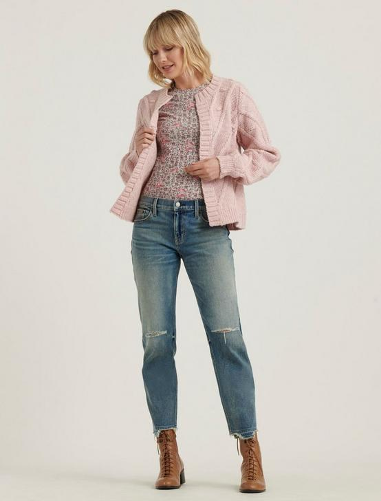 BOBBLE CARDIGAN, CHALK PINK, productTileDesktop
