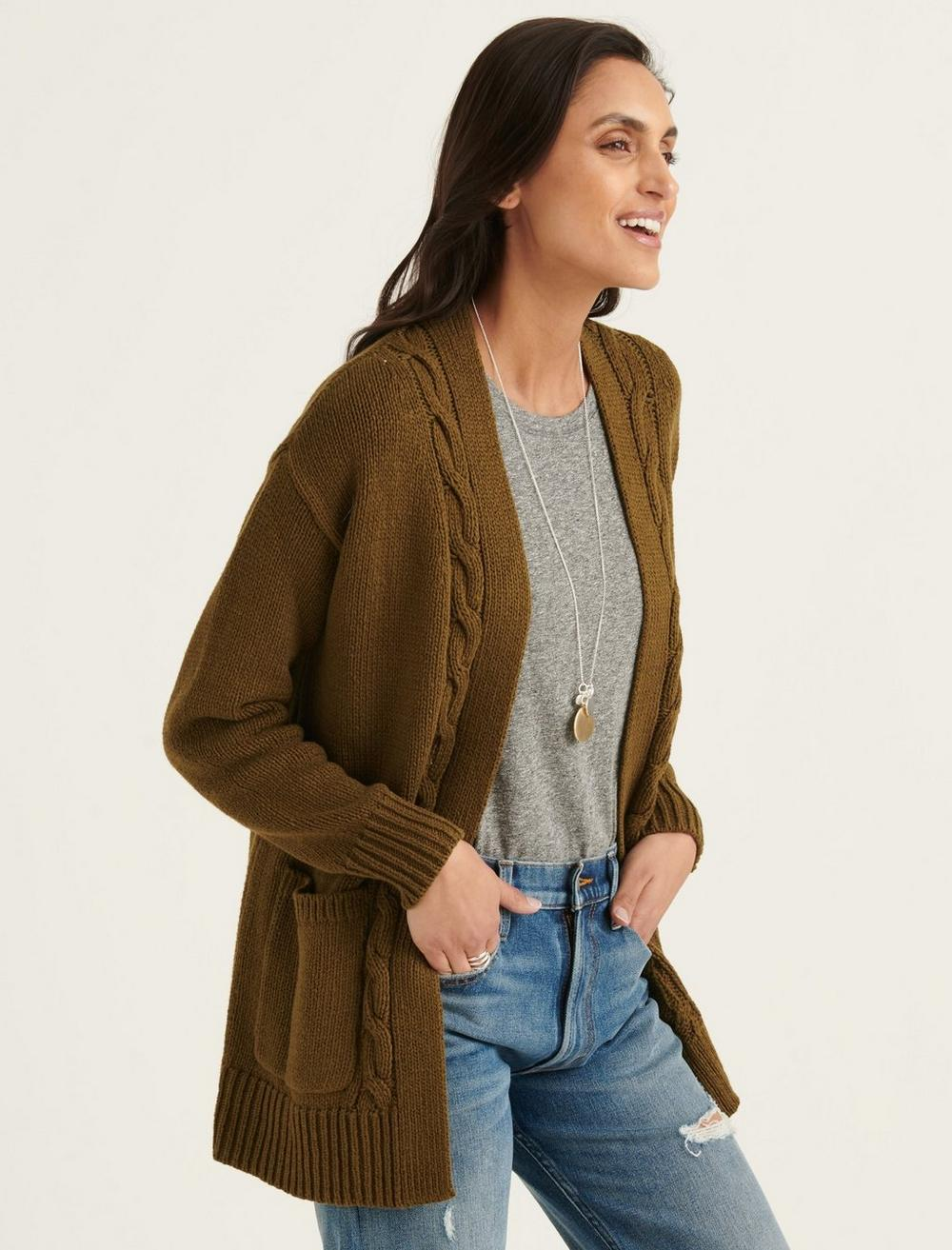 CABLE FRONT CARDIGAN, image 3