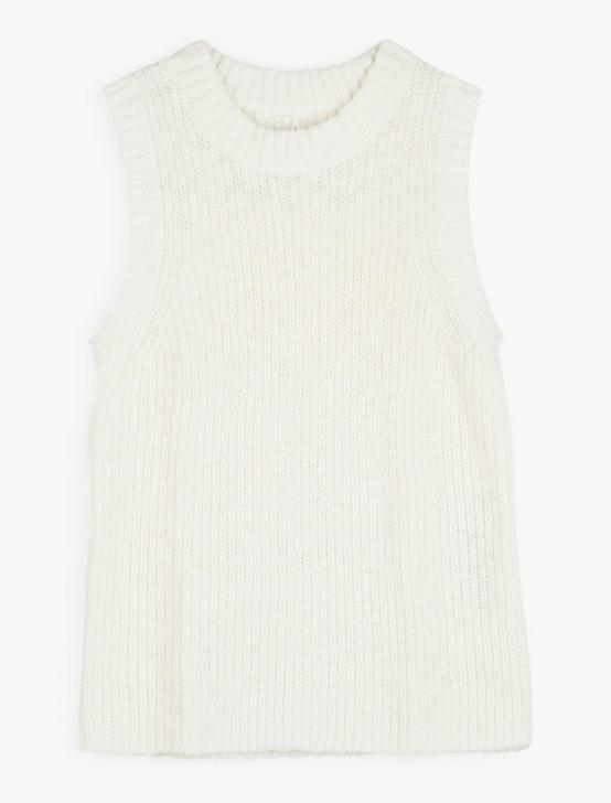 BASIC SWEATER TANK, SNOW WHITE, productTileDesktop