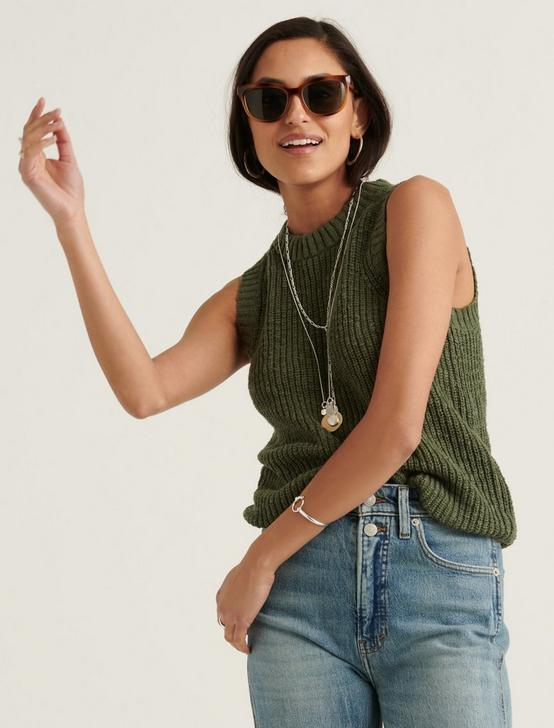 BASIC SWEATER TANK, THYME, productTileDesktop