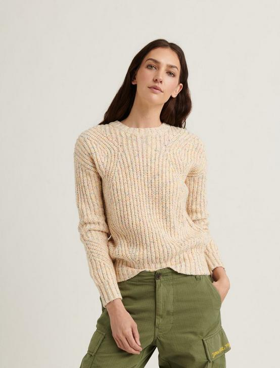 MARLED CREW PULLOVER, NATURAL MULTI, productTileDesktop