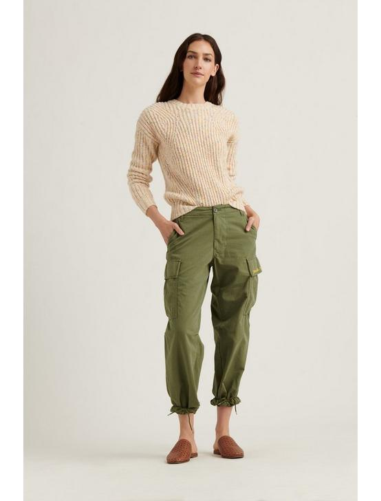 MARLED CREW PULLOVER SWEATER, NATURAL MULTI, productTileDesktop