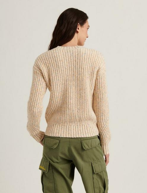 MARLED CREW PULLOVER, NATURAL MULTI