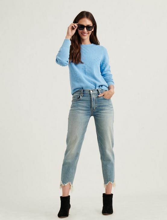 LIZA BOBBLE PULLOVER, AZURE BLUE, productTileDesktop