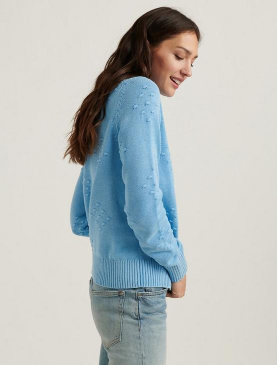 LIZA BOBBLE PULLOVER SWEATER, AZURE BLUE, productTileDesktop