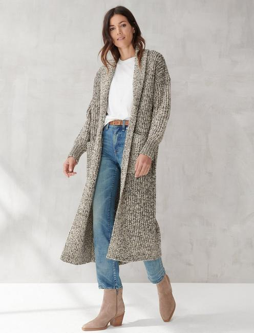 SWEATER COAT, BLACK MULTI