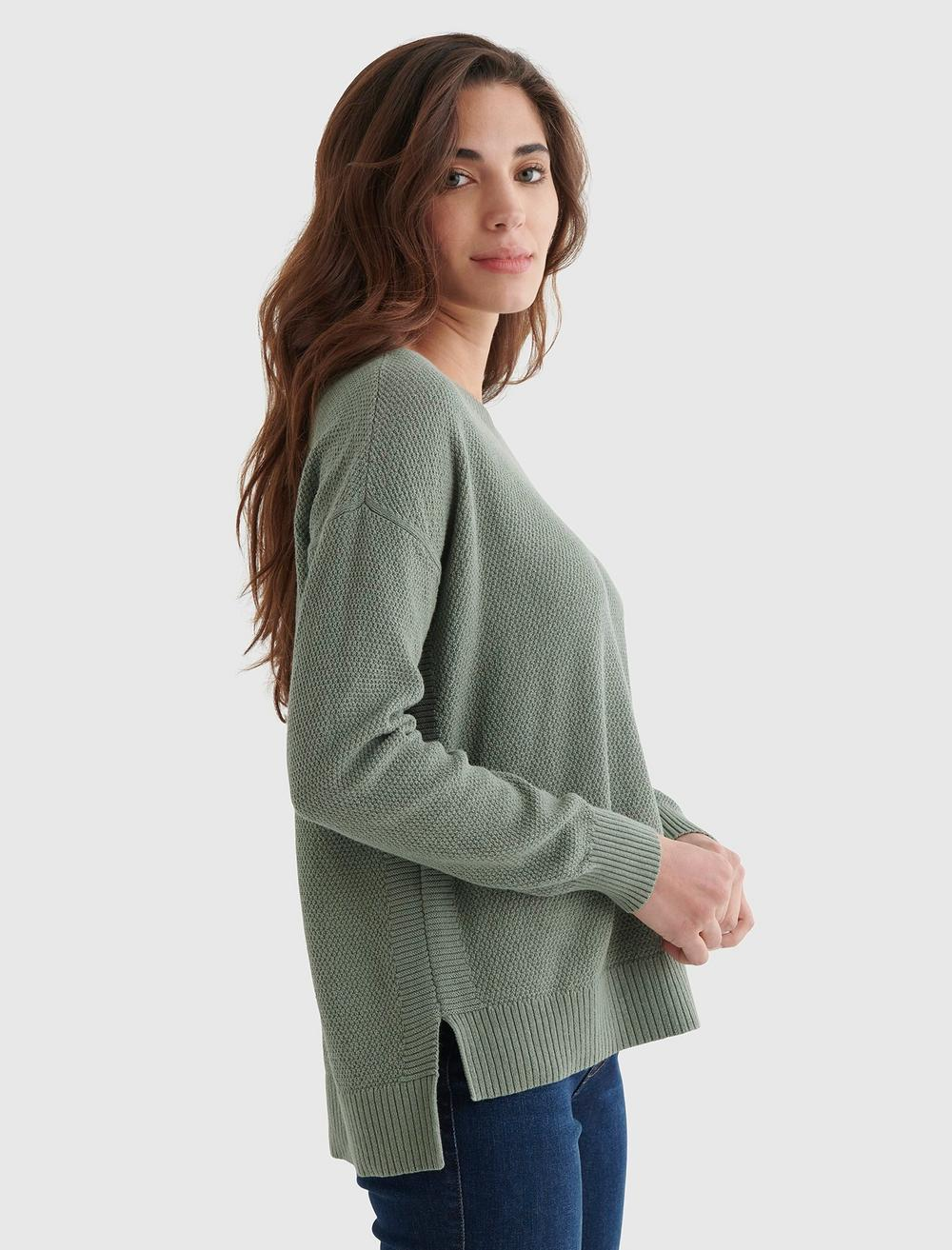 TEXTURED KNIT SWEATER, image 4