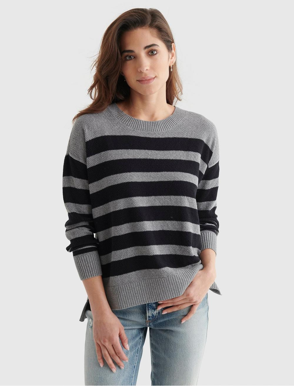 TEXTURED KNIT SWEATER, image 1