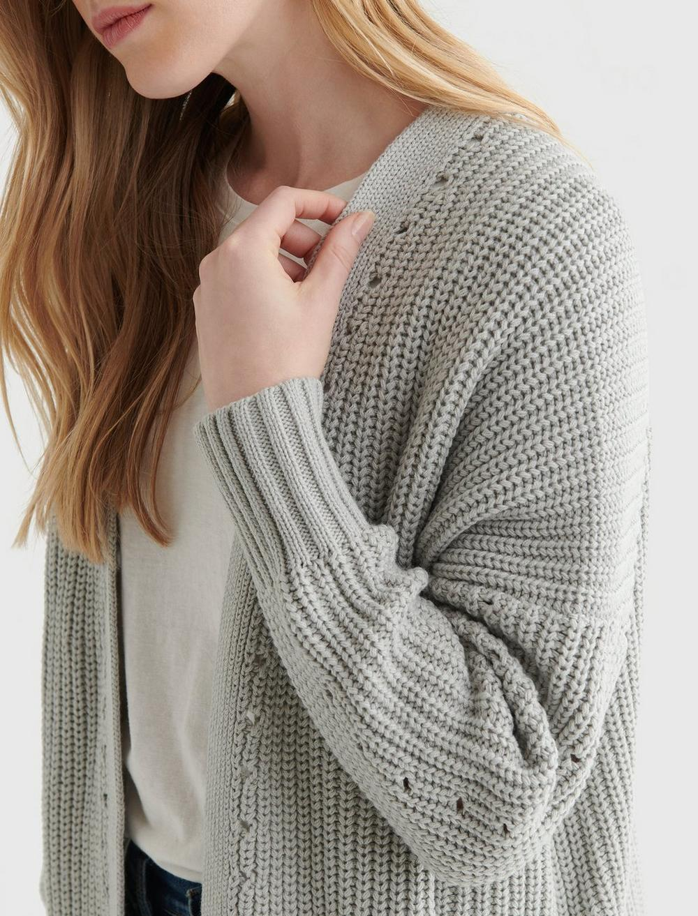 TEXTURED OPEN-FRONT CARDIGAN, image 4