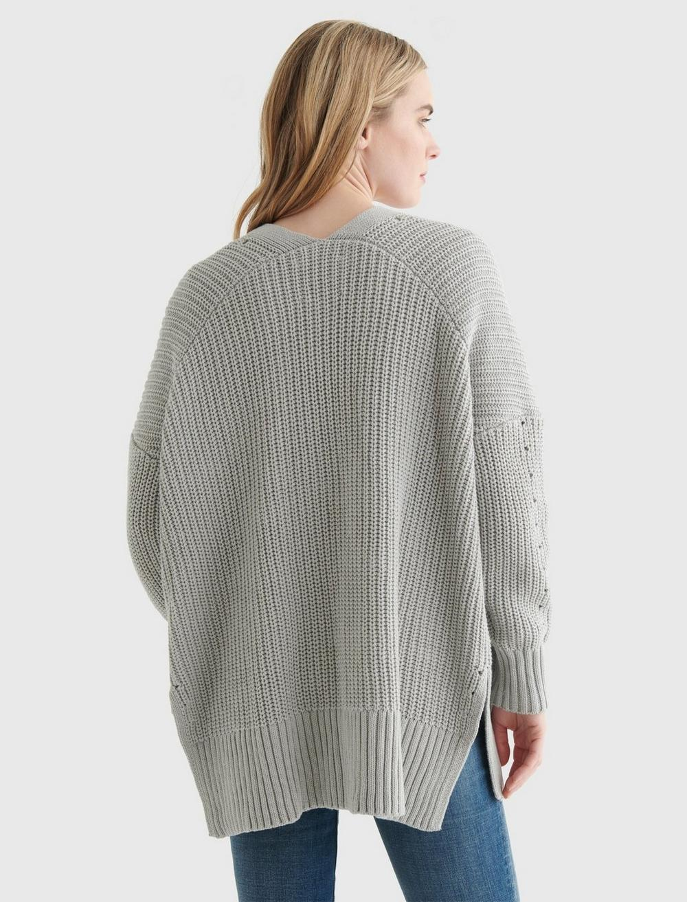TEXTURED OPEN-FRONT CARDIGAN, image 5